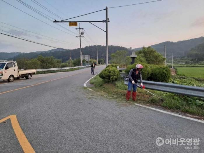 4.지난 15일부터 영광읍은 주요 도로변 풀베기와 생활쓰레기 집중 수거를 실시했다. .jpg